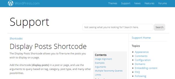 Posts Shortcode
